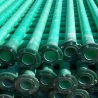 江苏万诚DN65*4MM玻璃钢带法兰泵管玻璃钢浅井泵管 玻璃钢井管 玻璃钢扬程管 玻璃钢农田灌溉管