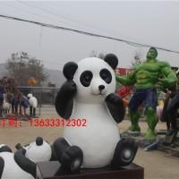 康大雕塑54 玻璃钢 玻璃钢熊猫雕塑