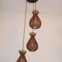 中山古镇厂家专业定制餐厅茶楼中式藤艺餐吊灯