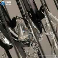 新中美式复古乡村艺术鸟笼吊灯北欧创意客厅卧室餐厅田园水晶吊灯