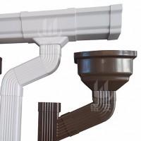 科鲁斯k型u型pvc落水管水槽彩铝雨水管雨水槽厂家